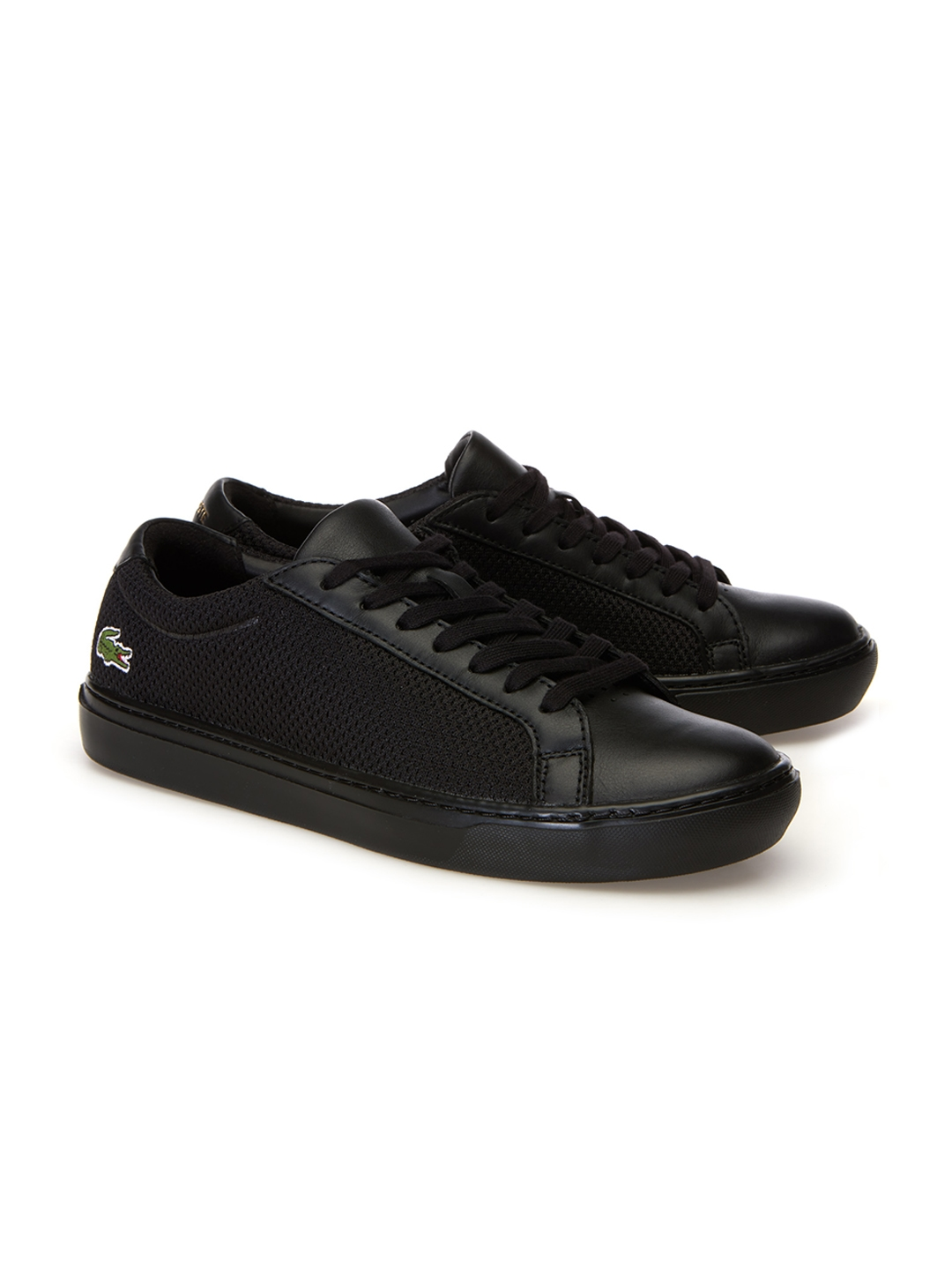 2239b1eb8 Buy Lacoste Men Black Leather Sneakers - Casual Shoes for Men ...
