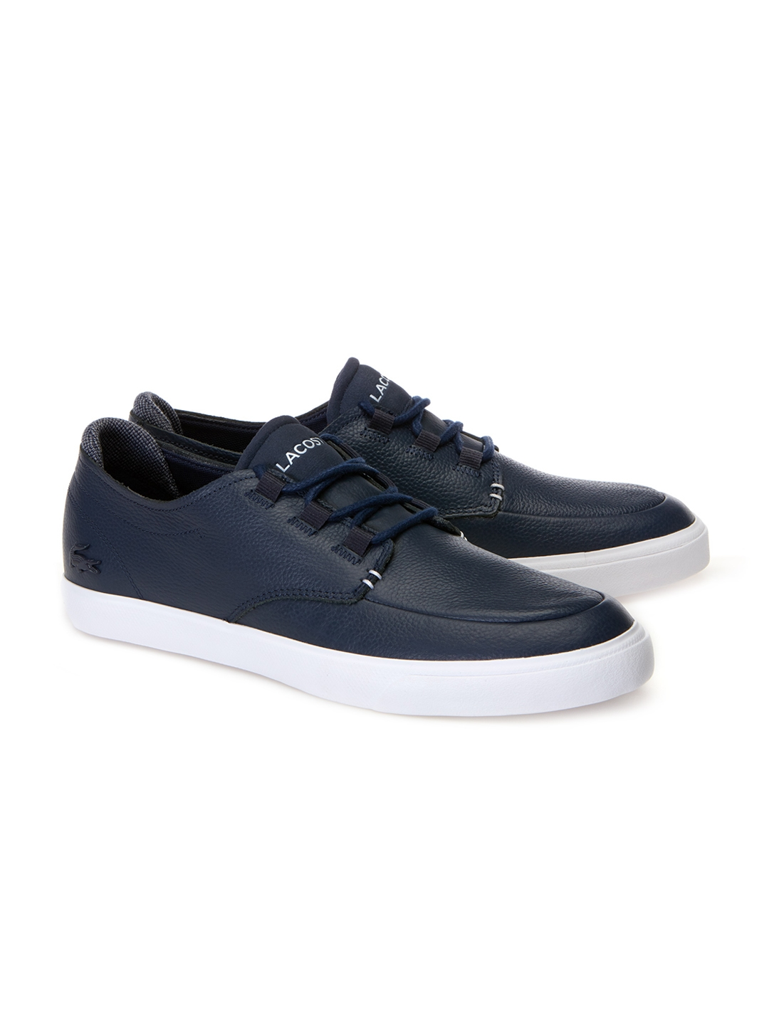ab56f7b54 Buy Lacoste Men Navy Blue Leather Sneakers - Casual Shoes for Men ...