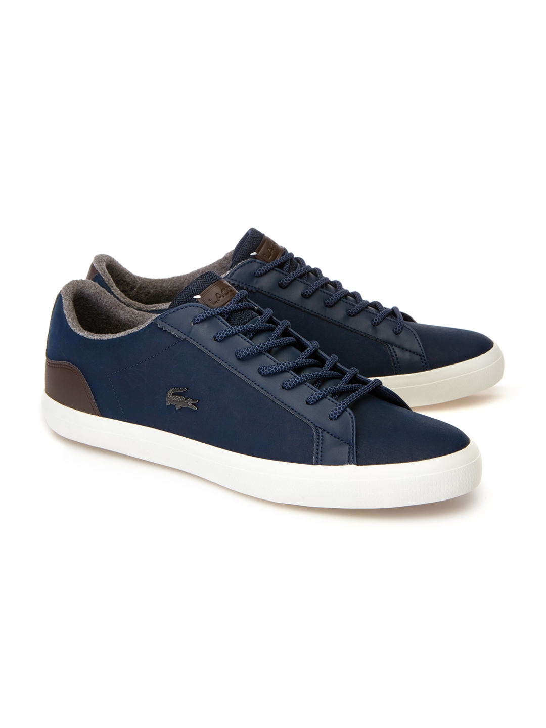 fe724d9f2 Buy Lacoste Men Blue Leather Sneakers - Casual Shoes for Men 7342601 ...