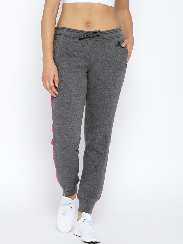 ea0f61e94 ADIDAS Women Charcoal Grey Essential 3-Stripes CH Training Joggers