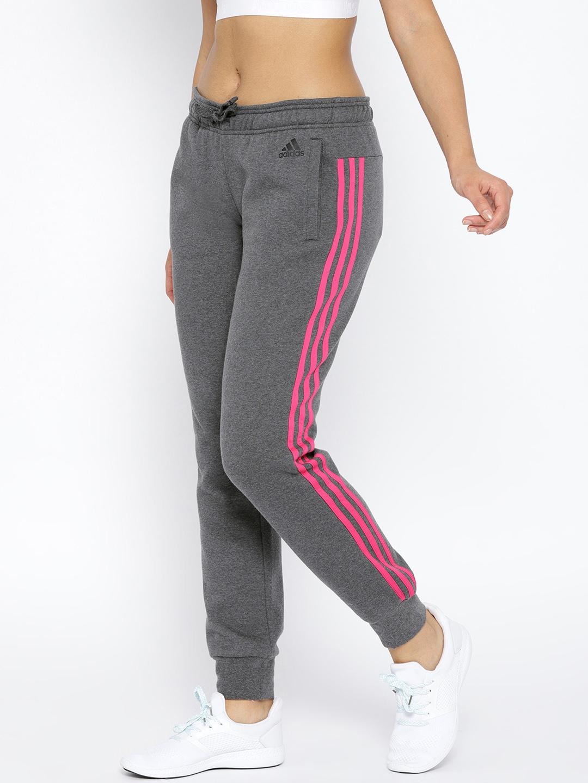 15e6a5c65 Buy ADIDAS Women Charcoal Grey Essential 3 Stripes CH Training ...