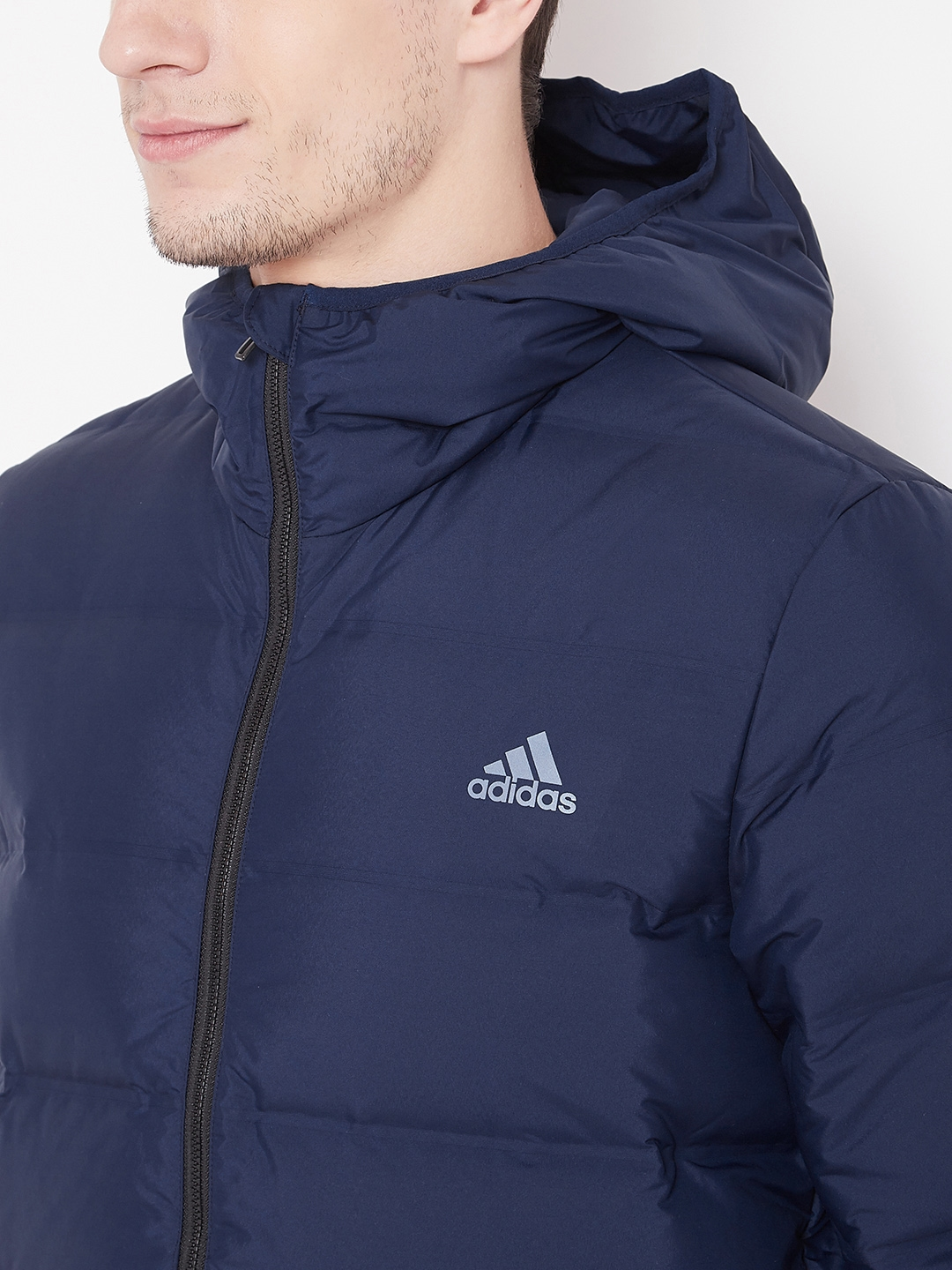 30350dc03d3f Buy ADIDAS Men Navy Blue Helionic Hooded Down Jacket - Jackets for ...