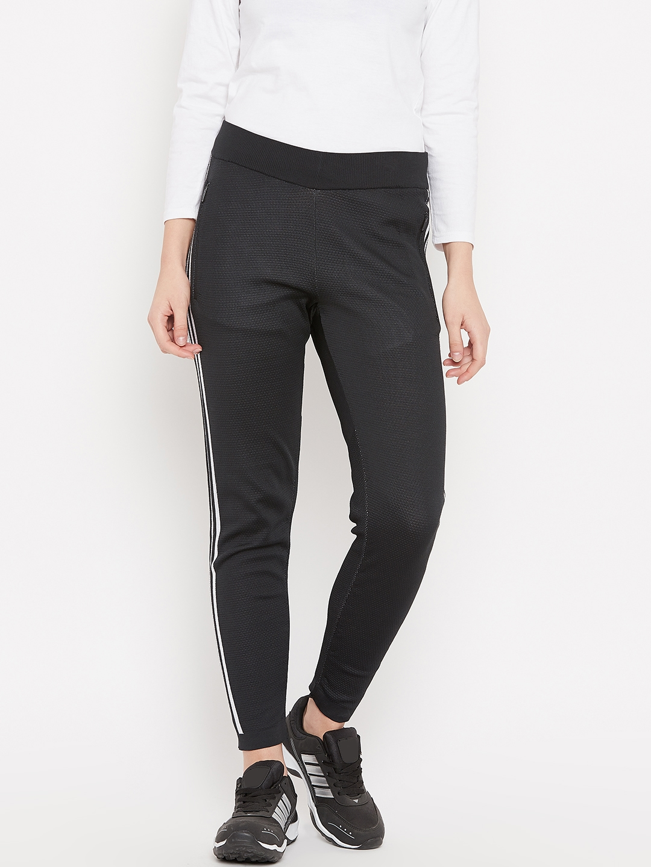 e2cd4f8bf Buy ADIDAS Women Black Solid W ID KN STK PT Track Pants - Track ...