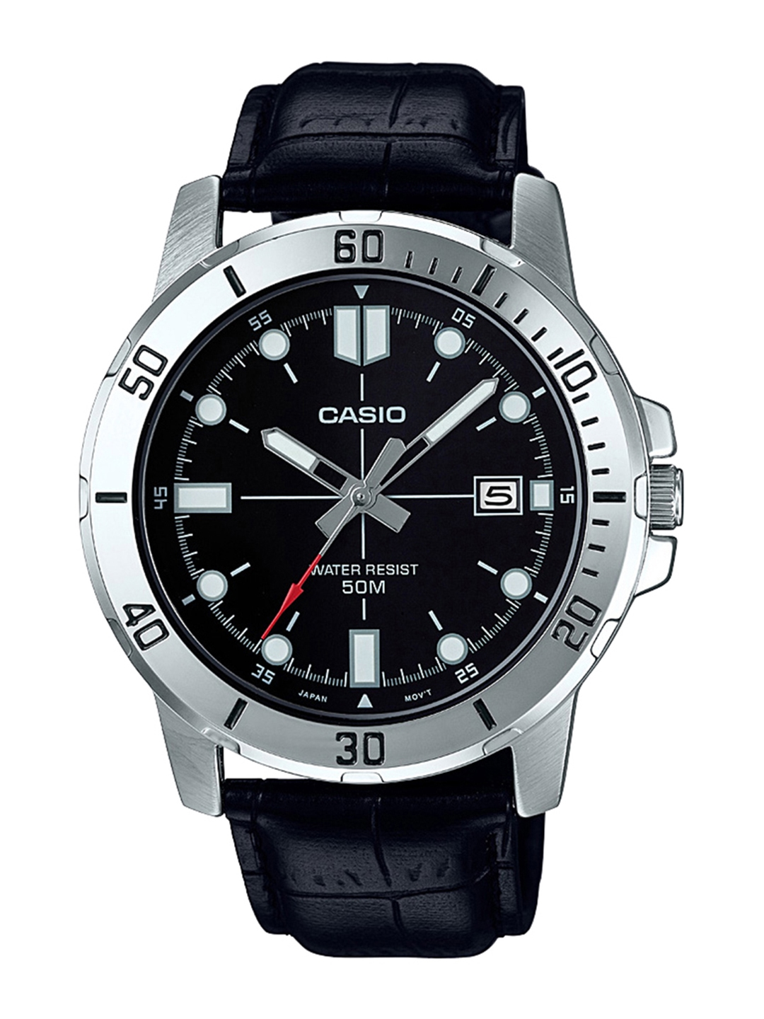 CASIO Enticer Men Black Dial Analog Watch MTP VD01L 1EVUDF   A1371