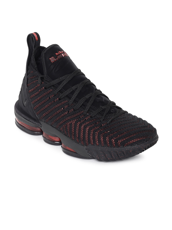online store ca70e 6a54f Nike Men Black LEBRON XVI Basketball Shoes