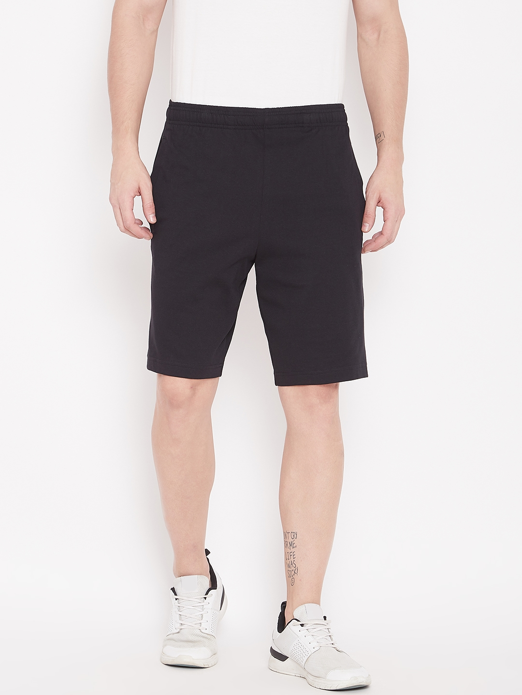Buy Adidas Men Black Essential Linear Solid Shorts Shorts