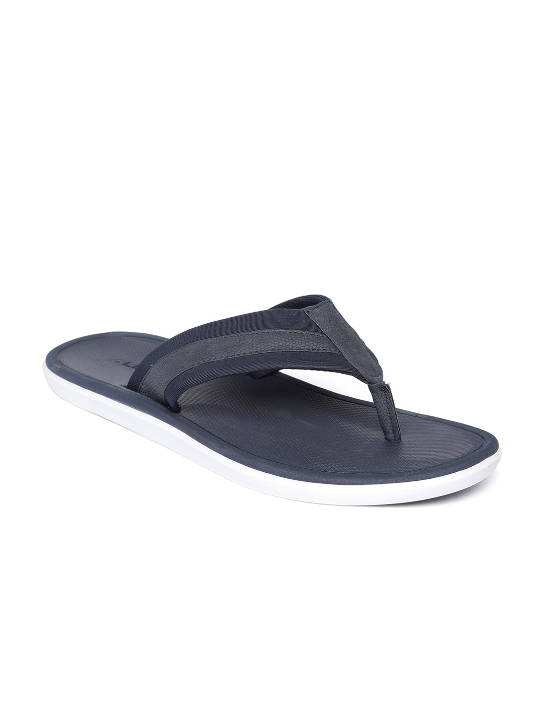 65c40e9d75f Buy ALDO Men Navy Blue Solid Thong Flip Flops - Flip Flops for Men ...