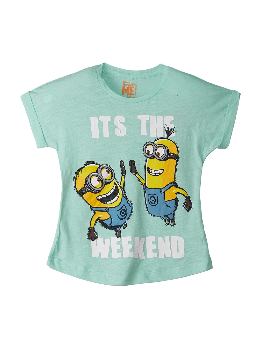 d2ec7042 Buy Kids Ville Girls Green & Yellow Minions Printed T Shirt ...