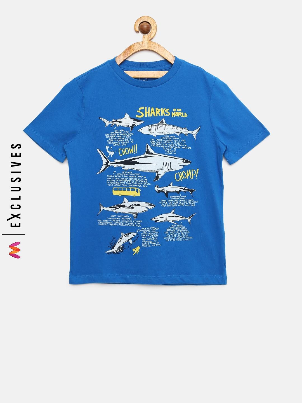 087e6182b Buy GAP Boys Blue Screen Print T Shirt - Tshirts for Boys 7393064 ...