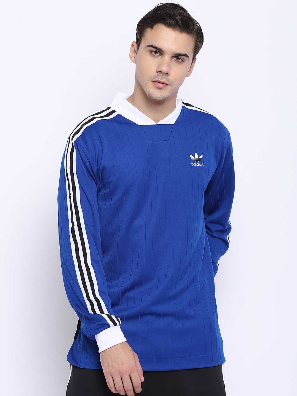 fingir Antídoto Injerto  Buy ADIDAS Originals Men Blue Round Neck Football B Side Jersey With  Printed Back - Tshirts for Men 7401034 | Myntra