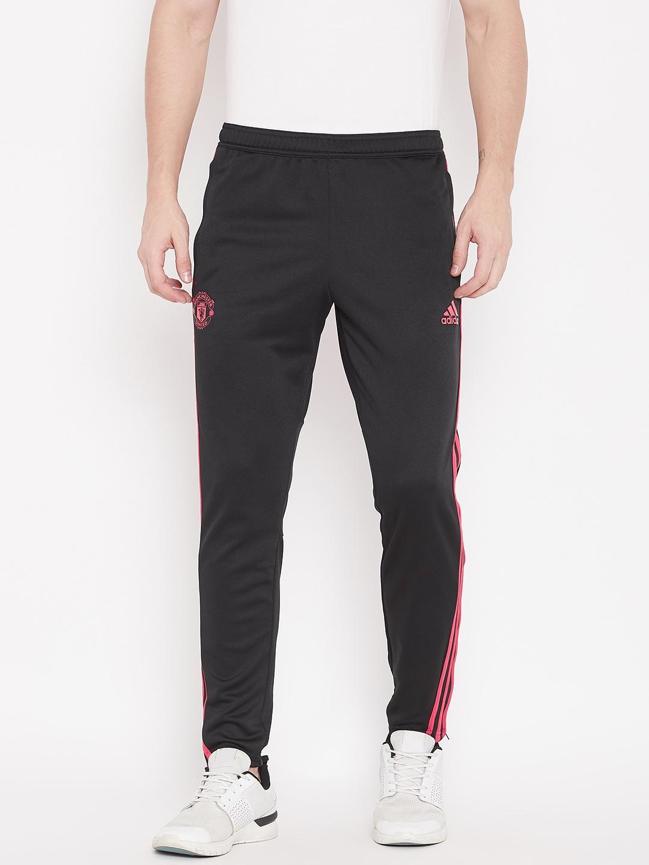 59cc27e9c5b Buy ADIDAS Men Black Manchester United FC Football Track Pants ...