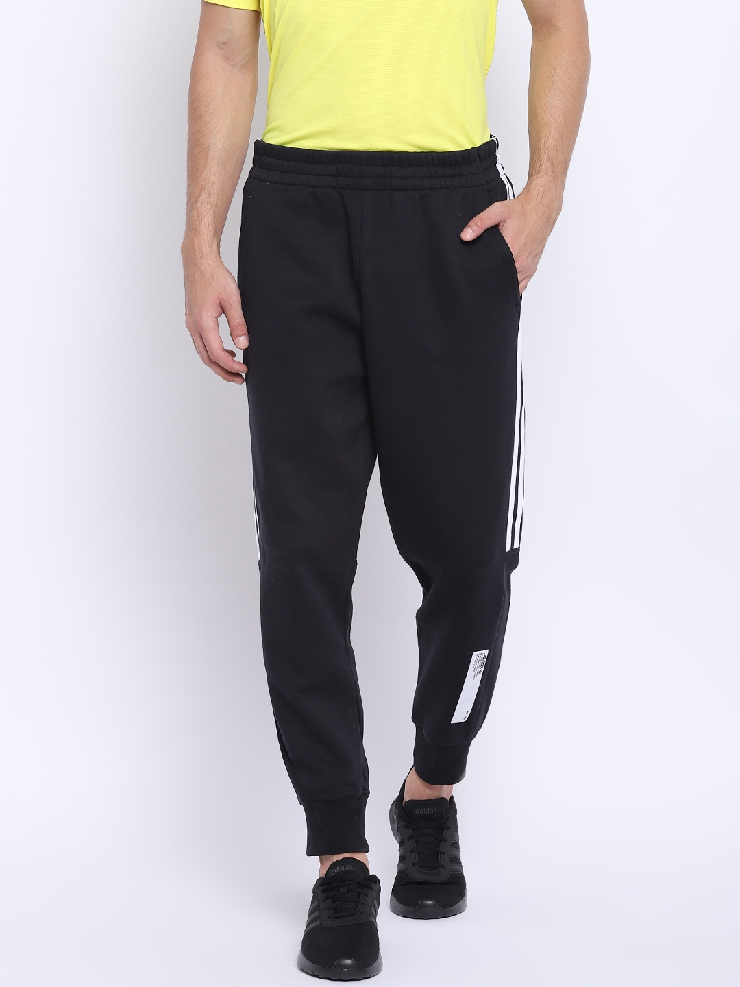 85ecaf907533 Buy ADIDAS Originals Men Black NMD Solid Joggers - Track Pants for ...