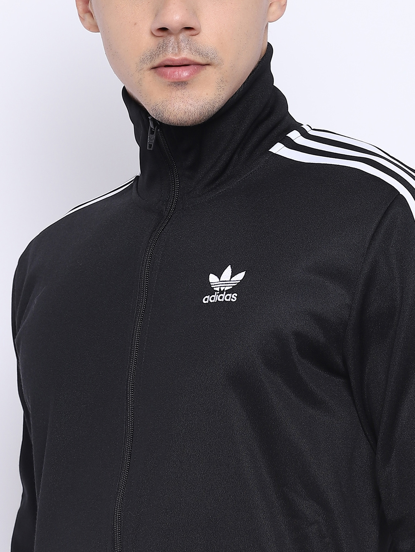 Buy Adidas Originals Men Black Beckenbauer Solid Sporty Jacket ... eb61a43e1