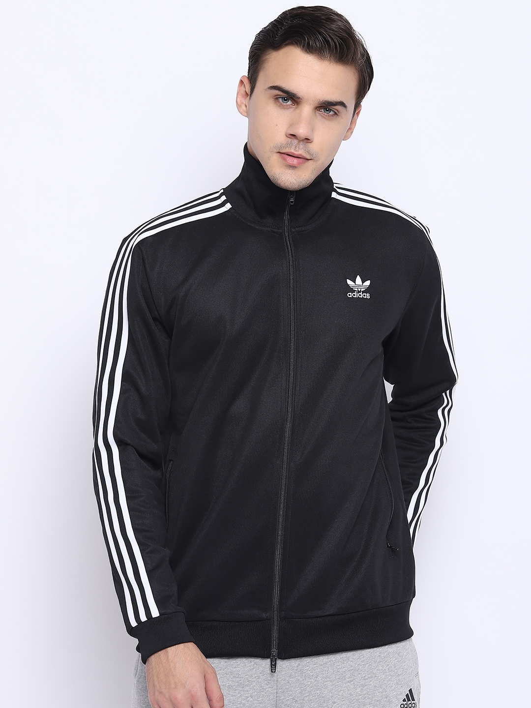 d03faa4d3806 Buy Adidas Originals Men Black Beckenbauer Solid Sporty Jacket ...