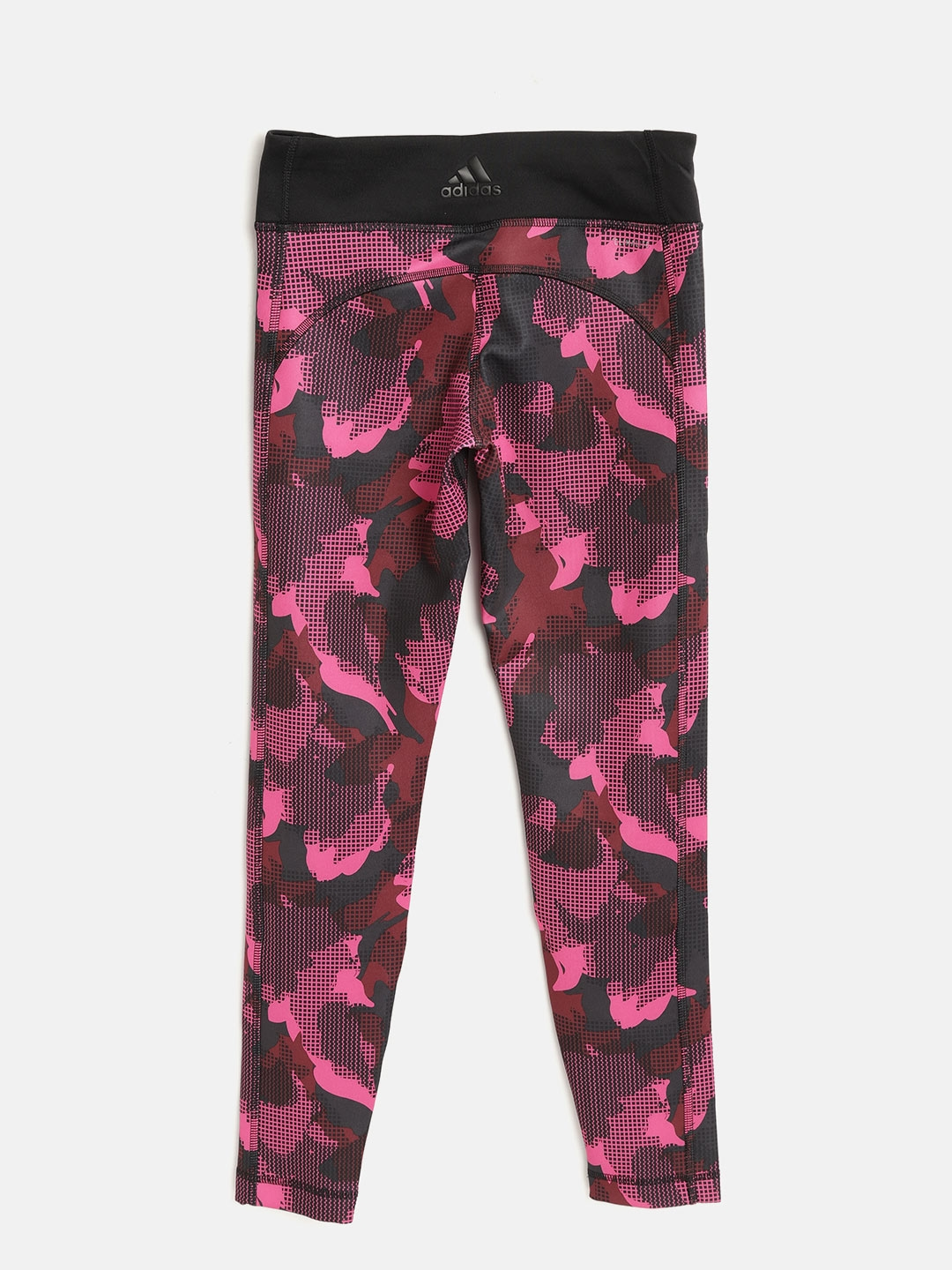 a0c1ccc402573 Buy ADIDAS Girls Pink & Black YG AOP Camouflage Print Training ...