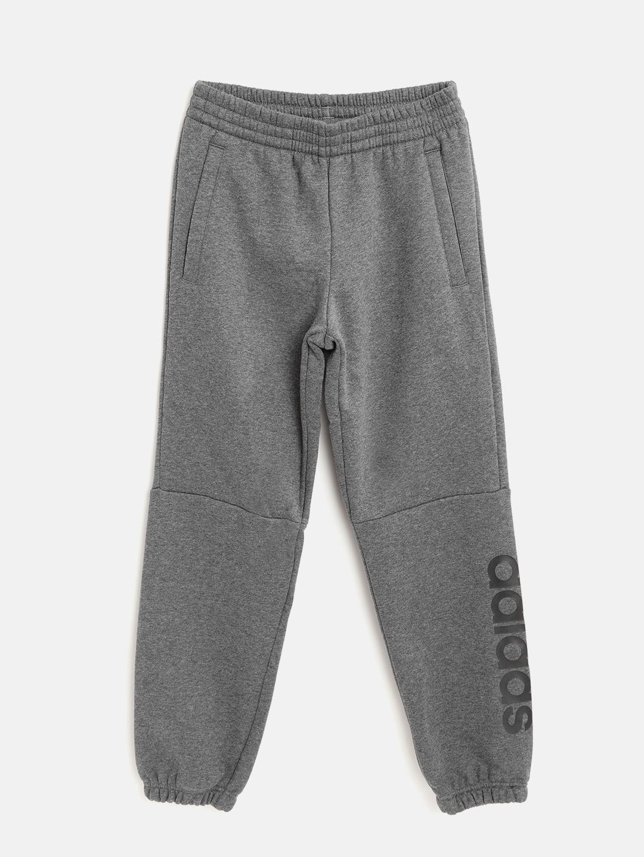 1b4a1323b Buy ADIDAS Boys Charcoal Grey YB LIN Joggers - Track Pants for Boys ...