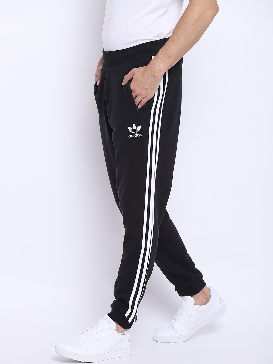 a9150f16c Buy ADIDAS Originals Men Black 3 Stripes Solid Joggers - Track Pants ...