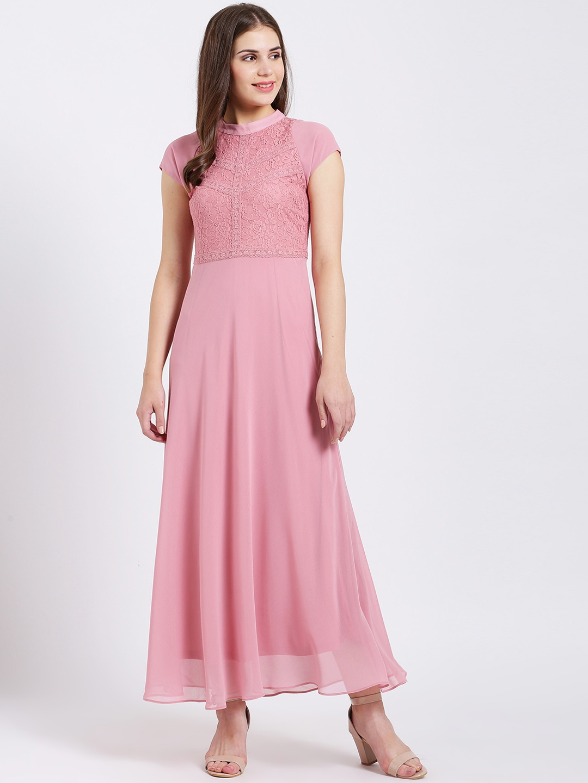 da16fc4ce31 Buy Zink London Women Pink Self Design Maxi Dress - Dresses for ...