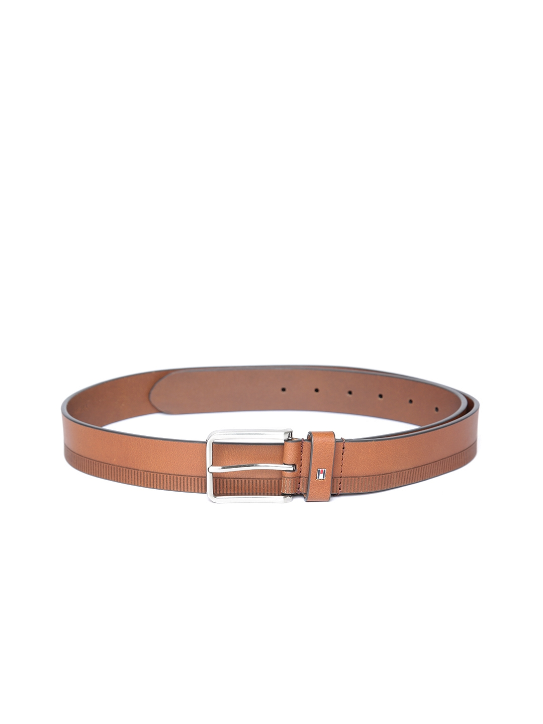 Tommy Hilfiger Men Tan Leather Printed Belt