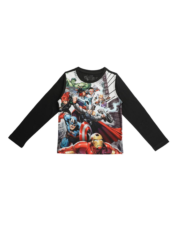 b1b0d2b5 Buy Marvel Avengers Boys Multicoloured Printed Round Neck T Shirt ...