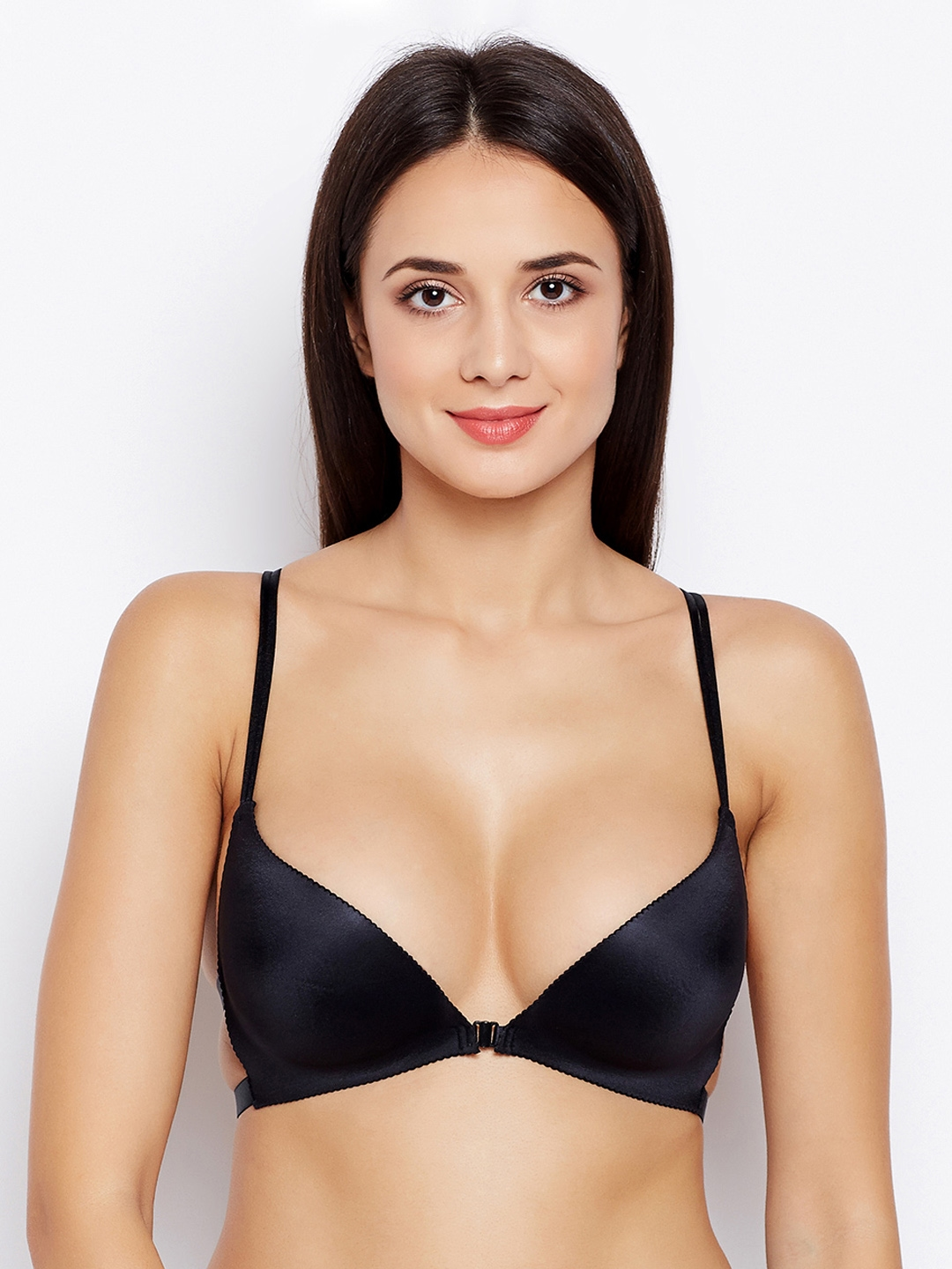 9888bb0fcb660 Golden Girl Black Solid Non-Wired Lightly Padded Bralette Bra 1209201853