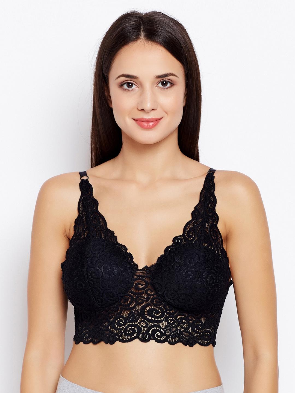 b87ff1017ddf1 Golden Girl Black Lace Non-Wired Lightly Padded Bralette Bra 1209201816