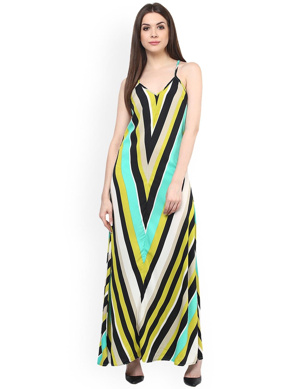 Buy Mayra Women Multicoloured Striped Maxi Dress - Dresses for Women ... e7d95615b
