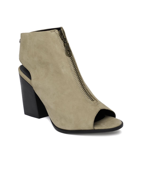 56426b732fa Buy Superdry Women Beige Solid Heeled Mules - Heels for Women ...