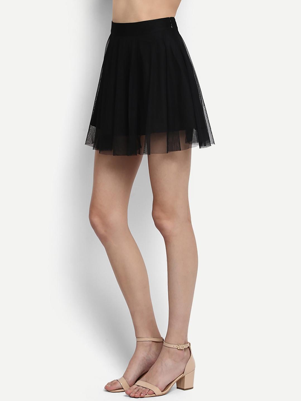 eca38ccc0 Buy StalkBuyLove Women Black Mini Flared Skirt - Skirts for Women ...