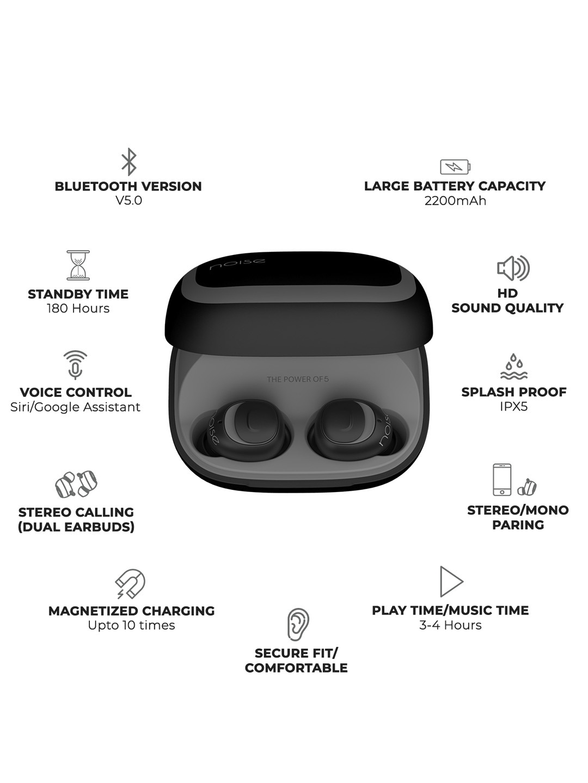 7a034615b84 Buy Black Noise Shots X5 Wireless Bluetooth Earphones With Mic ...