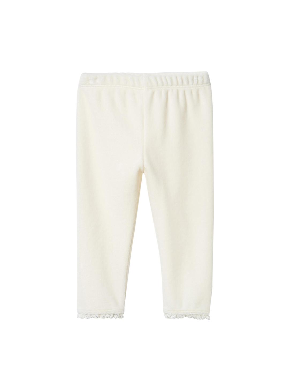 e671fe9ea5088 Buy GAP Cream Coloured Baby Lace Trim Velour Leggings - Leggings for ...