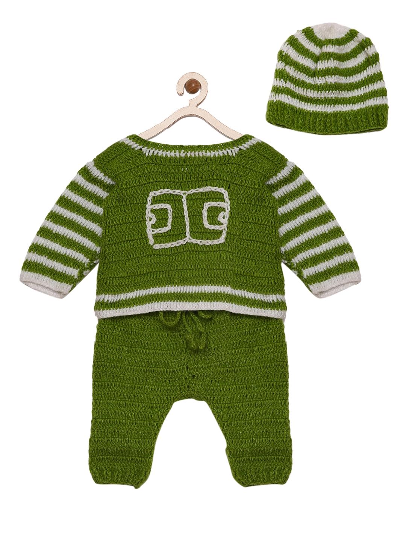 4abfb6c31286 Buy CHUTPUT Girls Green Self Design Shirt With Pyjamas And A Beanie ...