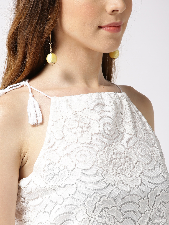 272a78194a2 Buy Sera Women White Self Design Two Piece Dress - Dresses for Women ...