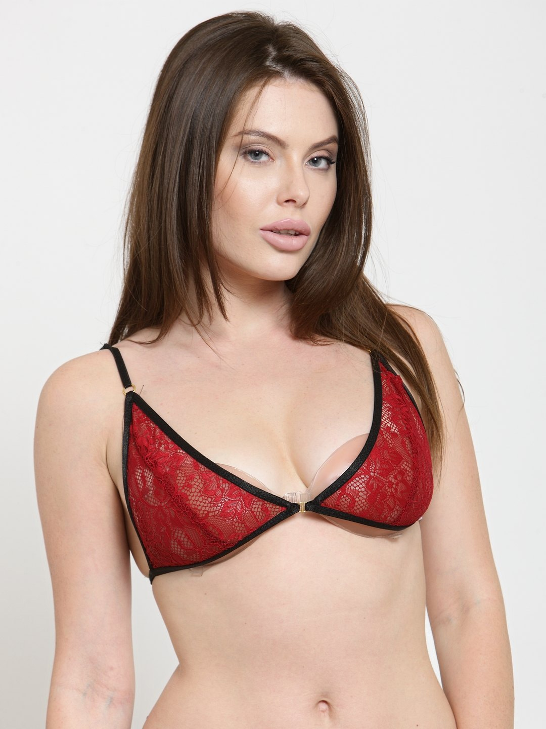 887f86bfc9196 Buy N Gal Red   Black Lace Underwired Non Padded Push Up Bra - Bra ...