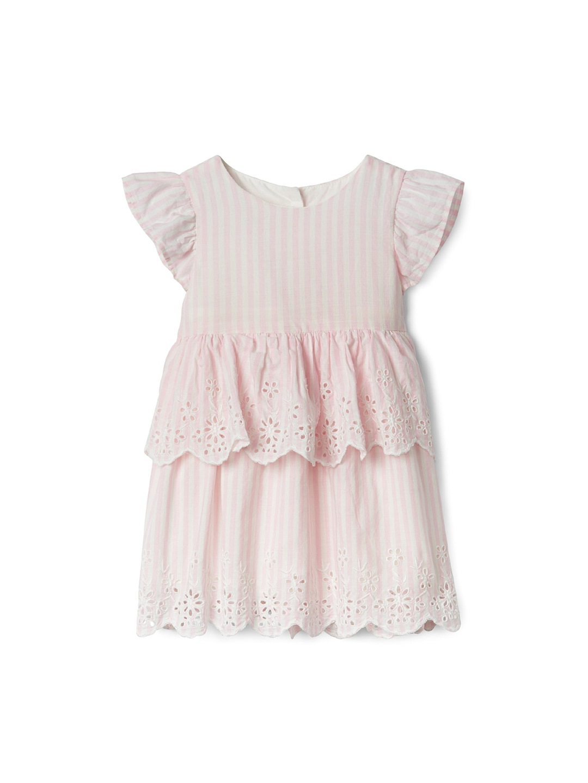 fabca02589ce Buy GAP Pink Baby Girls' Stripe Flutter Dress - Dresses for Girls ...