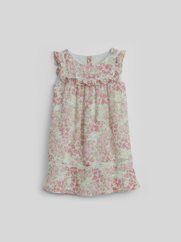 56faffdad Buy GAP Baby Girls  Pink   Sea Green Floral Ruffle Dress - Dresses ...