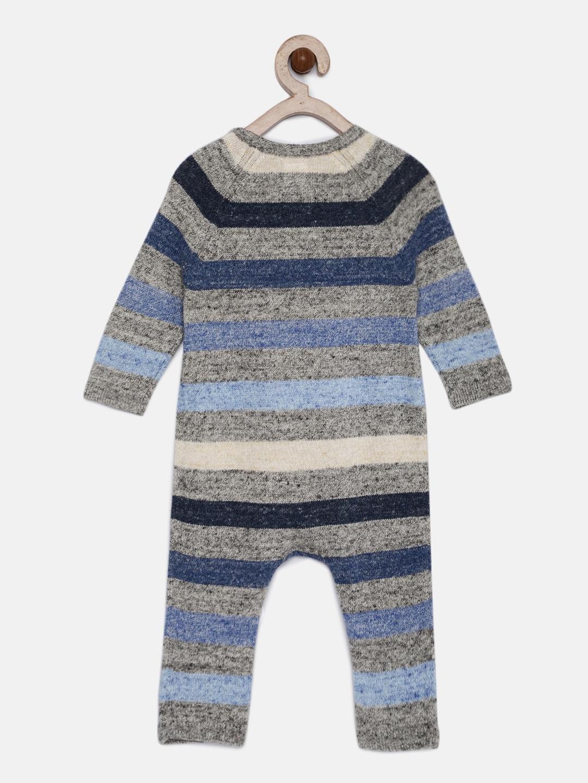 08e79f899c6fe Buy GAP Baby Boys' Grey Stripe Marled One Piece - Rompers for Boys ...