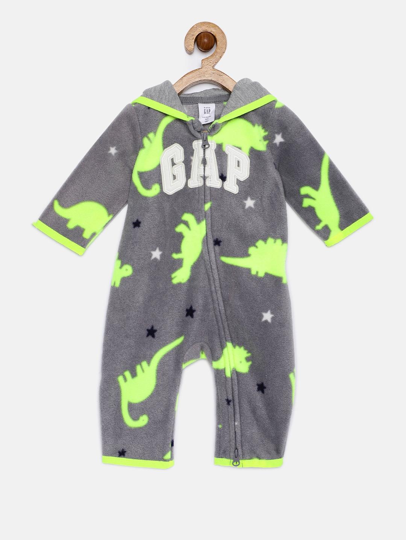 40fbab2b48066 Buy GAP Baby Boys' Logo Hoodie One Piece Romper - Rompers for Boys ...