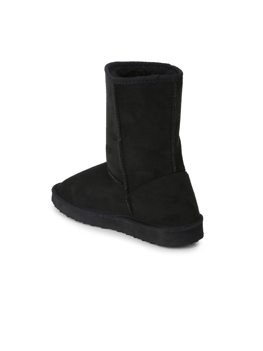 0cd69d94b66 Buy Truffle Collection Women Black Solid Heeled Boots - Heels for ...