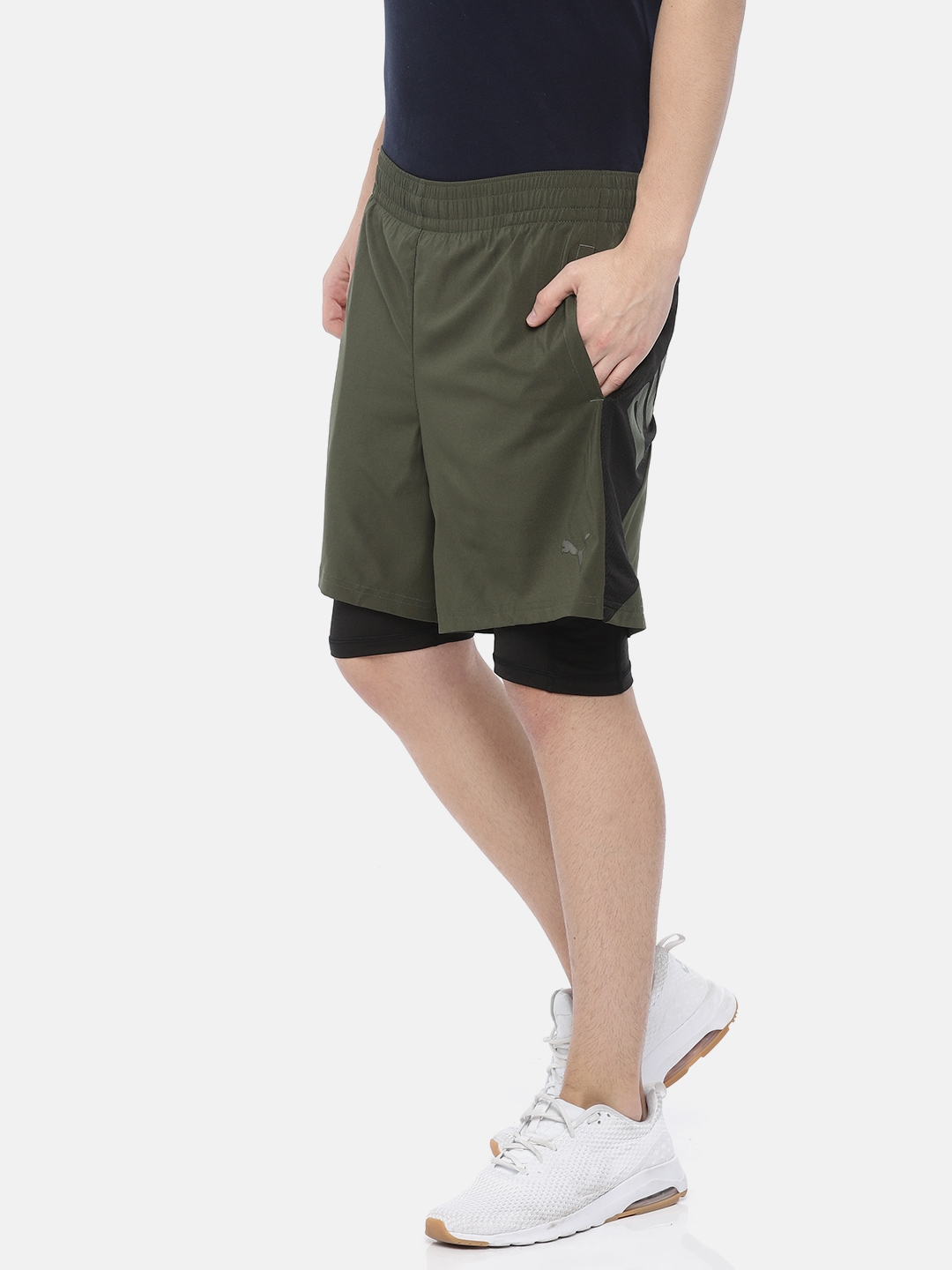 8ff92652c3 Buy Puma Men Olive Green A.C.E. Woven 2in1 Shorts - Shorts for Men ...
