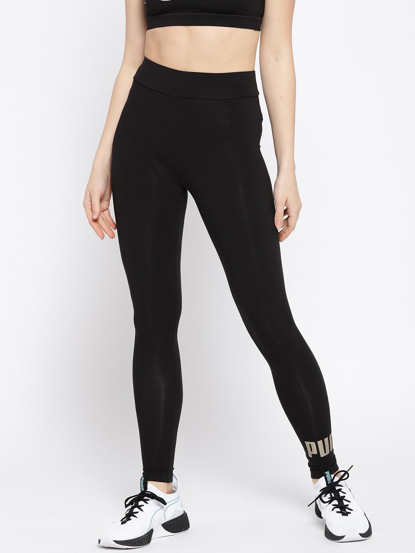 9fa743cac928d7 Buy Puma Women Black ELEVATED ESS Logo Tights - Tights for Women ... puma