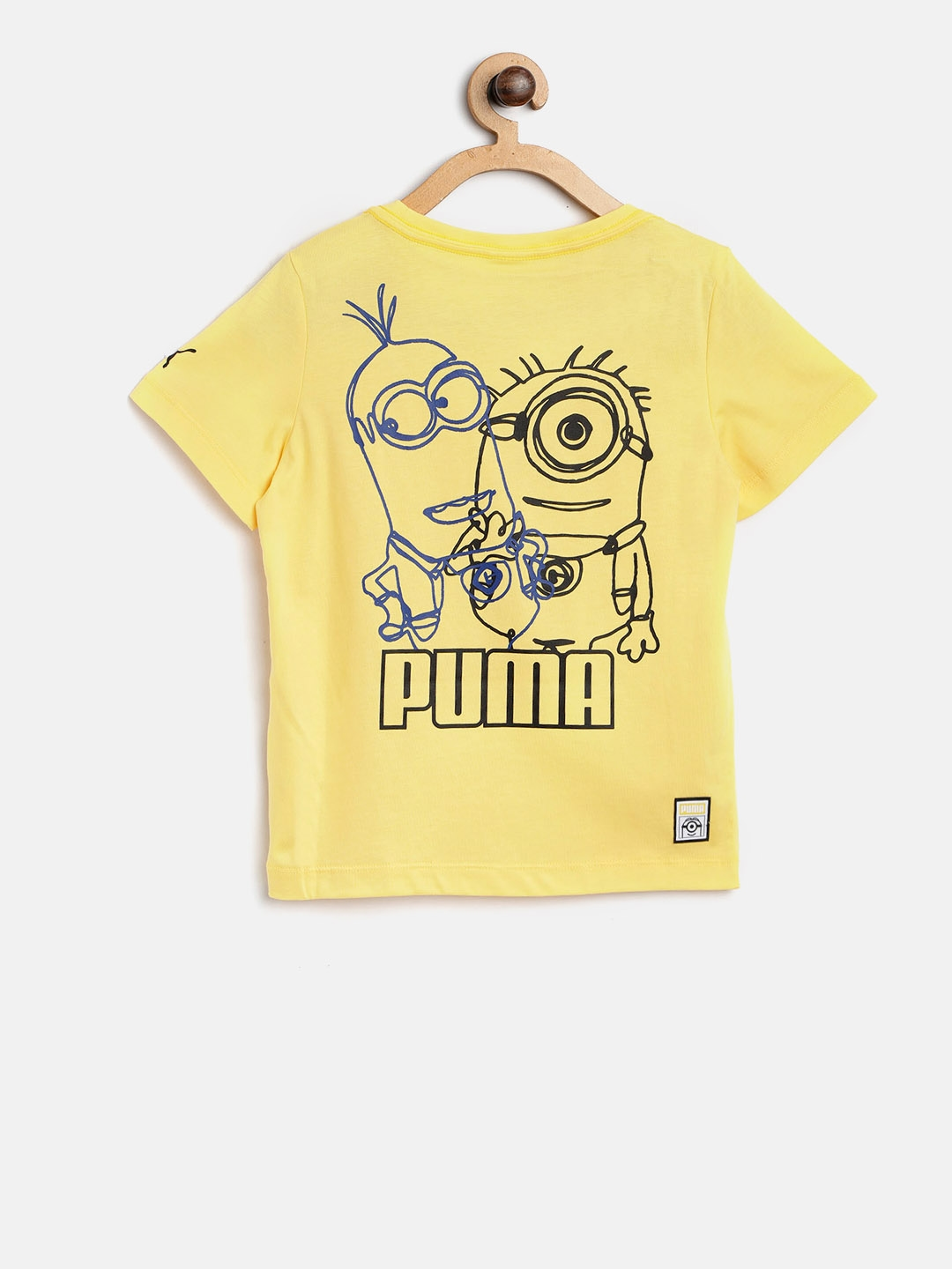 e73423f3 Buy Puma Boys Yellow Printed Round Neck Minions T Shirt - Tshirts ...
