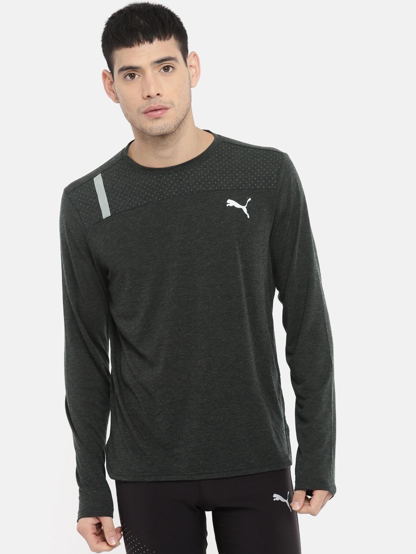 66de044051f Buy Puma Men Black Solid Round Neck Warming T Shirt - Tshirts for ...