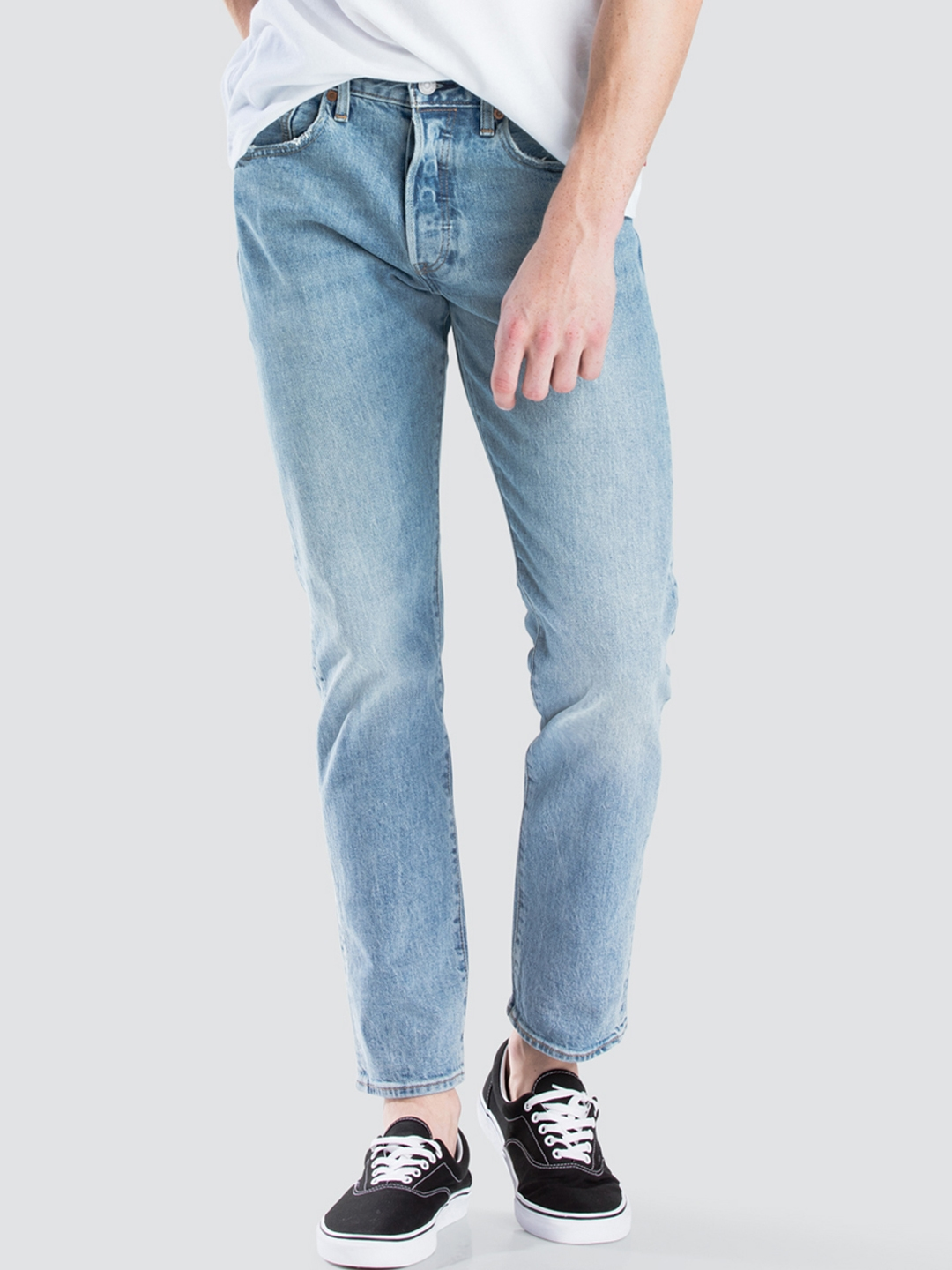 9bc8a64c97fd Levis x Justin Timberlake Men Blue Tapered Fit Mid-Rise Clean Look  Stretchable Jeans 501