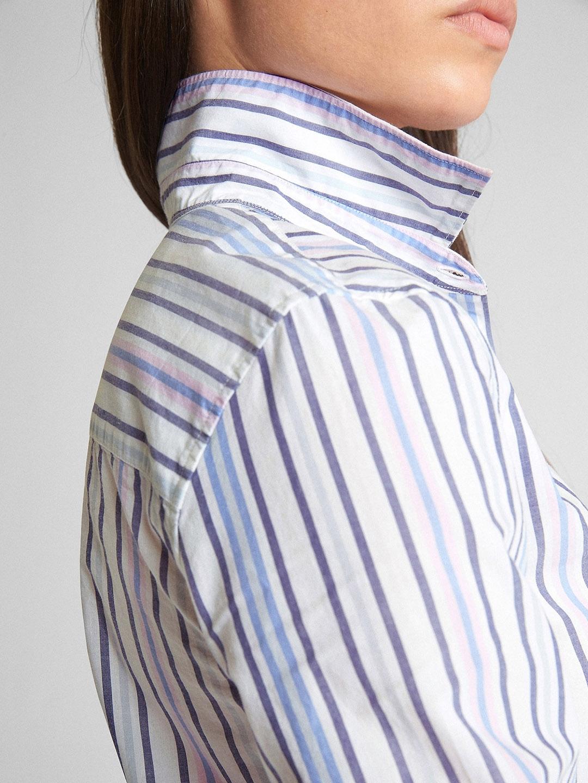 05fb62f7 Buy GAP Women Fitted Boyfriend Stripe Shirt In Poplin - Shirts for ...