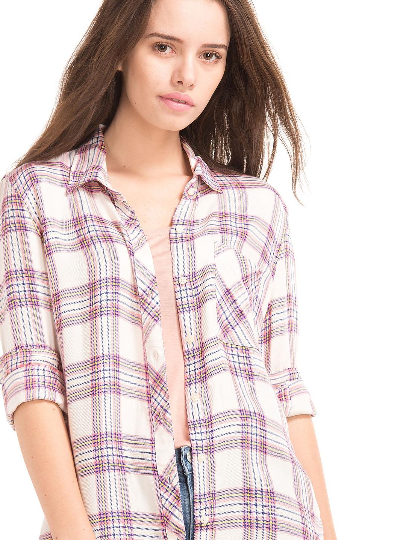 2375092b Buy GAP Women Soft Flannel Plaid Shirt - Shirts for Women 7480507 ...
