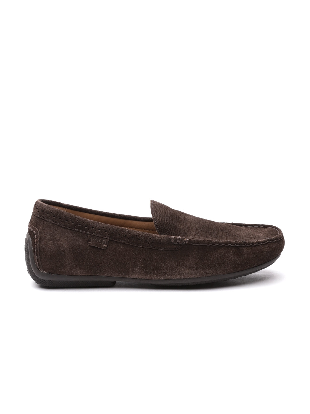 1a25a74c80f Buy Polo Ralph Lauren Men Coffee Brown Suede Driving Shoes - Casual ...