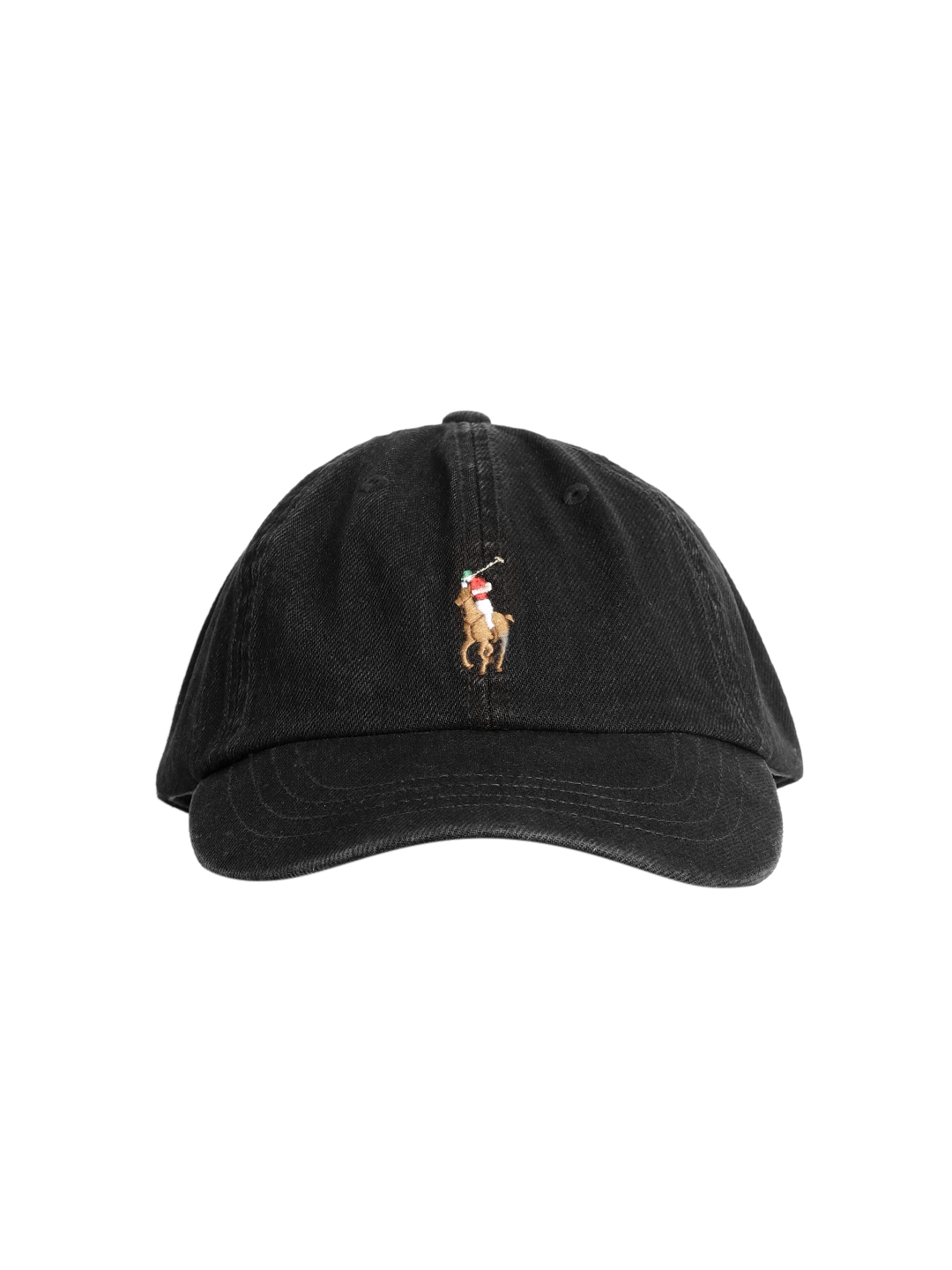 77ce655cc7c39 Buy Polo Ralph Lauren Men Black Solid Cap With Embroidered Logo ...