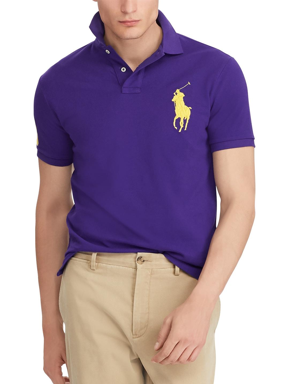 7a2bb7c8 Buy Polo Ralph Lauren Men Purple Solid Polo Collar T Shirt - Tshirts ...