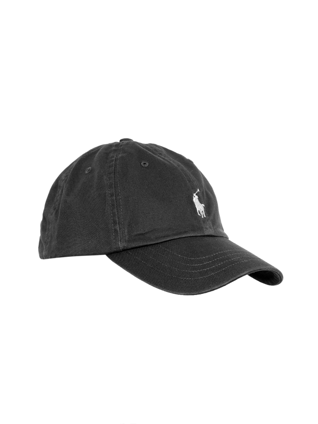 89a06744b9537 Buy Polo Ralph Lauren Men Charcoal Grey Solid Cap With Embroidered ...